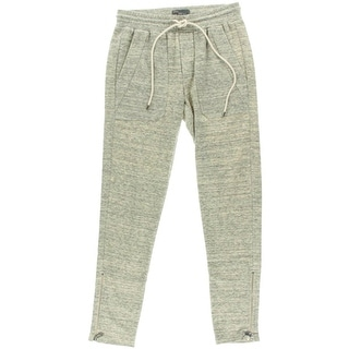 Vince Womens Marled Ankle Zip Sweat Pants - XS