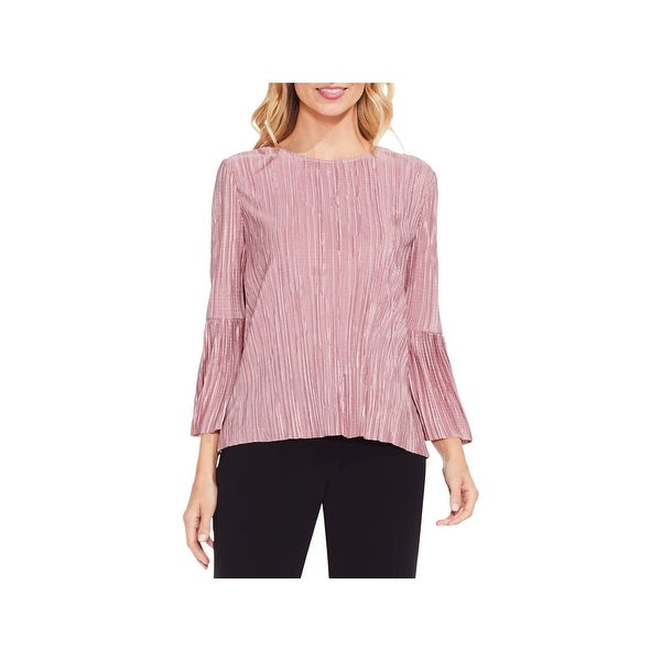 Vince Camuto Womens Blouse Bell Sleeves Crinkled