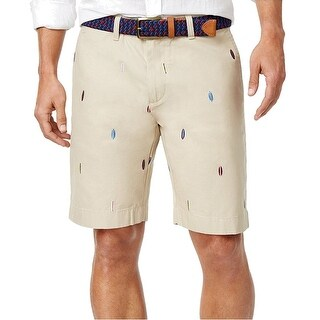 Tommy Hilfiger NEW Beige Size 40 Surfboard Knit Khakis Chinos Shorts