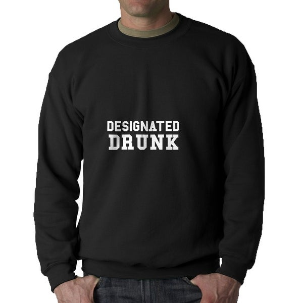 shop designated drunk urban words men s black funny sweatshirt on