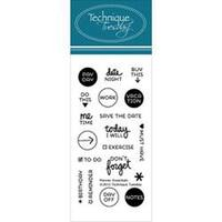 """Planner-Essentials - Technique Tuesday Clear Stamps 2""""X4"""""""
