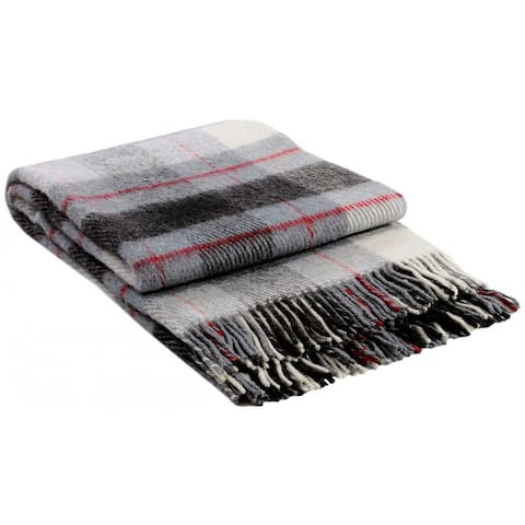 STP Goods - Elf Grey Tartan / Plaid New Zealand Lambswool Throw