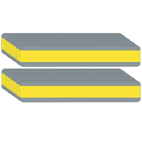 "Double Wide Sentence Strip Reading Guide, 1.25"" x 7.25"", Yellow, Pack of 24 - One Size"