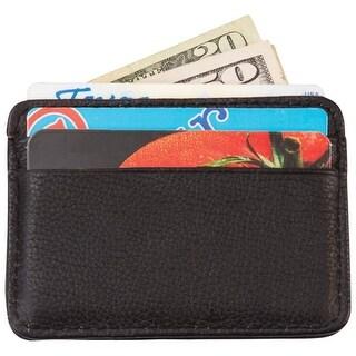 Embassy Men's Solid Genuine Leather Front Pocket Wallet