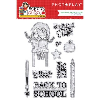 Photoplay Photopolymer Stamp-School Days