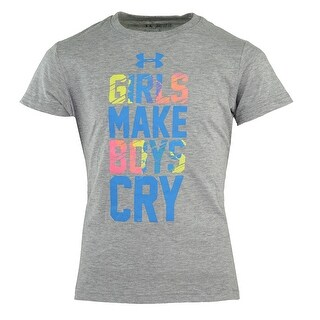 "Under Armour Girl's Heatgear ""Girls Make Boys Cry"" T-Shirt"