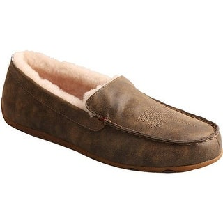 Twisted X Boots Men's MSR0001 Moccasin Slipper Bomber Leather