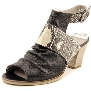 Gabor 41.652 Women Open Toe Leather Black Sandals