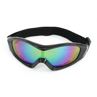 Unisex Outdoor Sports Rimmed Multicolor Lens Eyes Protector Goggles Glasses