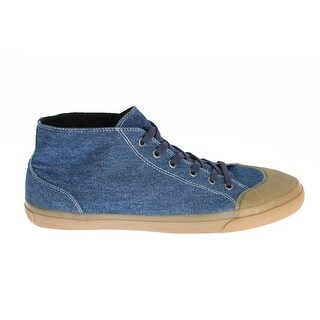 Dolce & Gabbana Blue Denim Ankle Sneakers Laceup Shoes - 44