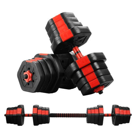 Zenova 2 in1 Adjustable Weight Dumbbells Set