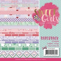 """Find It Trading Yvonne Creations Paper Pack 6""""X6"""" 23/Pkg-Sweet Girls"""