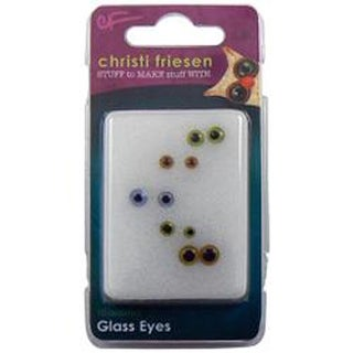 Assorted - Christi Friesen Glass Eyes 10/Pkg