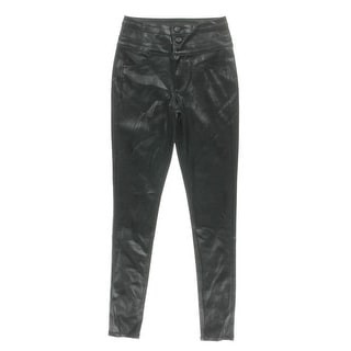 Tinseltown Womens Juniors Pants Faux Leather Skinny