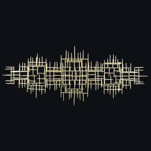 HUJI Grand Abstract Metal Wall Decor
