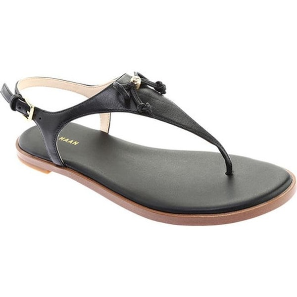 8a0cfd1e749cee Shop Cole Haan Women s Findra Thong Sandal Black Leather - Free ...