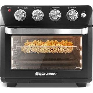 Link to Elite Gourmet  Deluxe 25L Air Fryer Oven Black Similar Items in Fryers