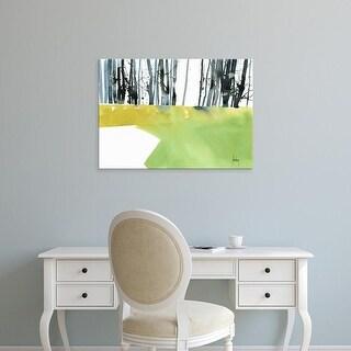 Easy Art Prints Paul Bailey's 'Barcode Wood' Premium Canvas Art