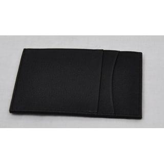 Trafalgar Mens Dark Black Pass-Case Card Case Wallet NWOT