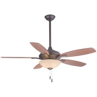 "MinkaAire Hilo 52"" 5 Blade Indoor Ceiling Fan with Blades and Light Kit Included"