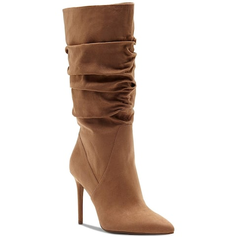 Jessica Simpson Womens lyndy Fabric Pointed Toe Mid-Calf Fashion Boots