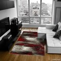 """Red AllStar Modern. Contemporary Woven Area Rug. Drop-Stitch Weave Technique. Carved Effect. Vivid Pop Colors (5' x 6' 11"""") - Thumbnail 0"""