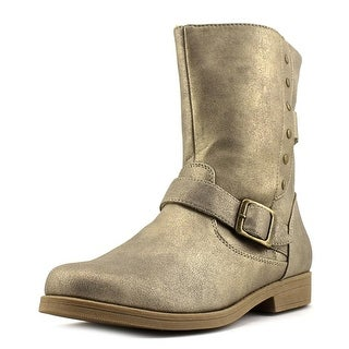 Rachel Shoes Morgan Youth Round Toe Synthetic Gold Boot