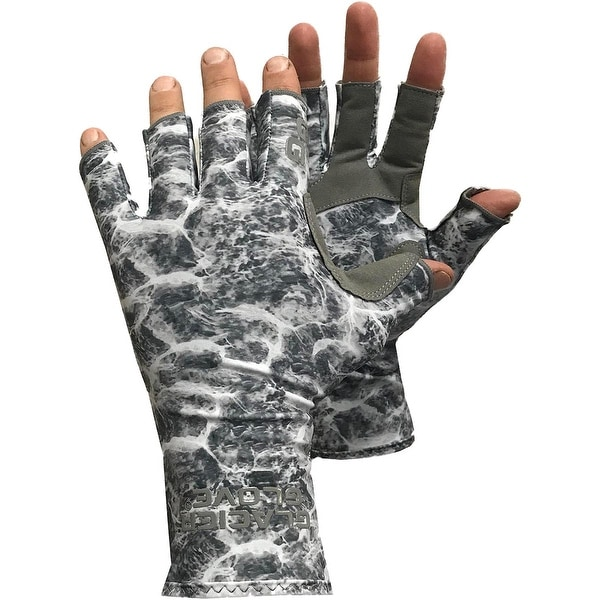 Glacier Glove Islamorada Fingerless Sun Gloves - Gray Water Camo. Opens flyout.