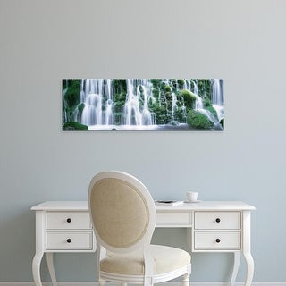 Easy Art Prints Panoramic Images's 'Waterfall Akita Japan' Premium Canvas Art