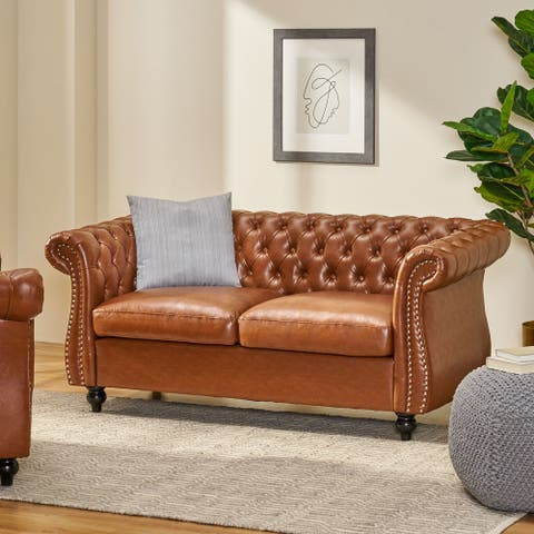 Silverdale Traditional Chesterfield Loveseat by Christopher Knight Home