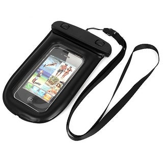 Waterproof Bag Holder Pouch Case Black for iPhone 6 w Neck Strap