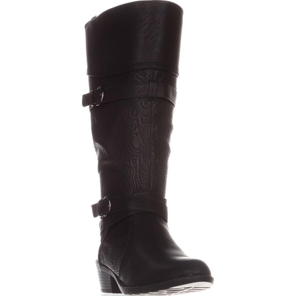 Easy Street Kelsa Knee High Riding Boots, Black - 7 us