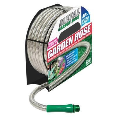 Metal Garden Hose As Seen on TV All Purpose Hose - 5.75 x 9.5 x 9.625