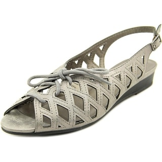 Easy Street Tinker Women W Open-Toe Synthetic Gray Slingback Sandal