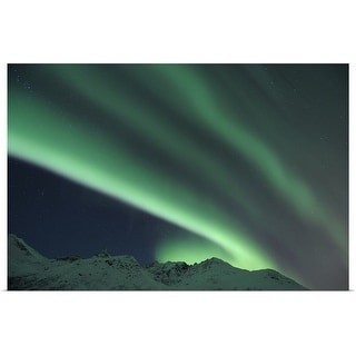 """Nothern lights, Aurora Borealis, Tromso, Troms, Norway"" Poster Print"