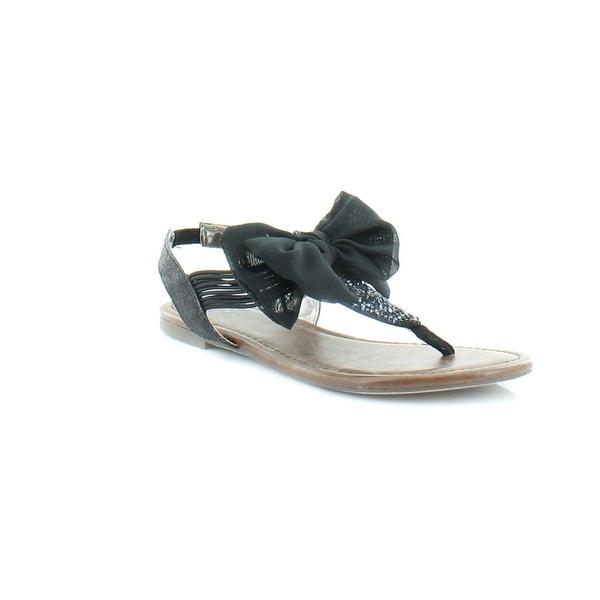 Material Girl Swan Women's Sandals & Flip Flops Black