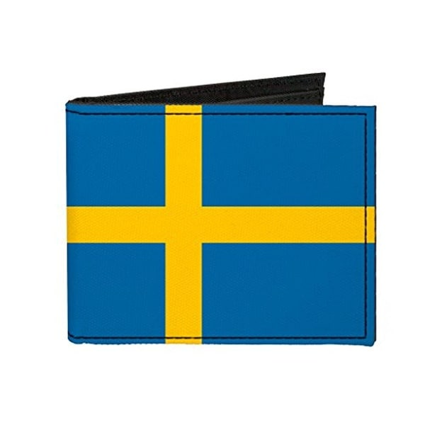 Buckle-Down Canvas Bi-fold Wallet - Sweden Flag Accessory