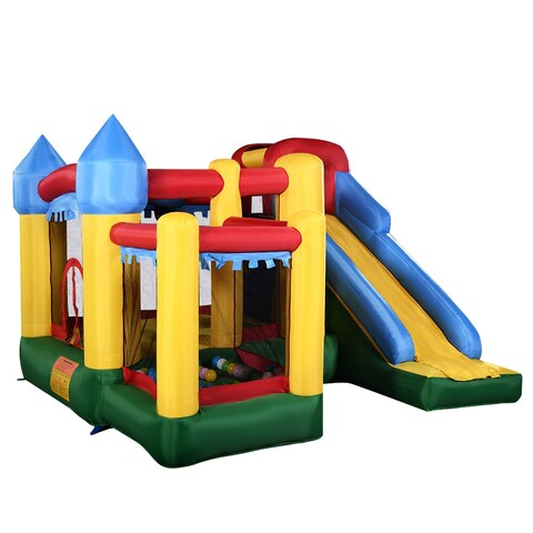 Costway Mighty Inflatable Bounce House Castle Jumper Moonwalk Bouncer Without Blower