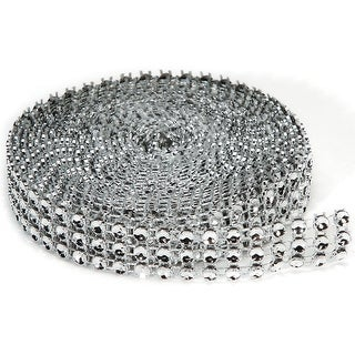 Bling On A Roll 4mmX3yd-3 Rows, Silver
