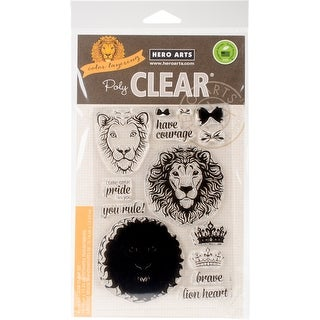 """Hero Arts Clear Stamps 4""""X6""""-Color Layering Brave Lion"""