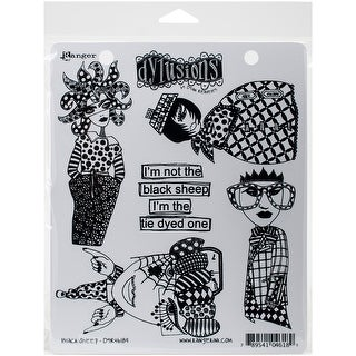 "Dyan Reaveley's Dylusions Cling Stamp Collections 8.5""X7""-Black Sheep"