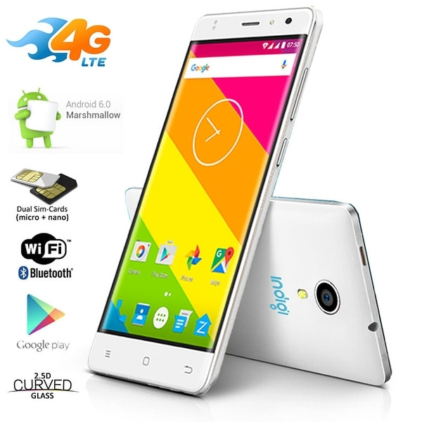 Indigi 4G LTE SmartPhone 5.0in IPS Android 6.0 (FACTORY UNLOCKED) AT&T T-mobile - White