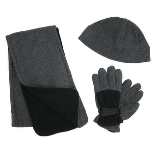 CTM® Kids' 4-7 Fleece Hat Scarf and Gloves Set