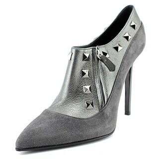 Lezilla Calzatura Borchia Pointed Toe Leather Heels
