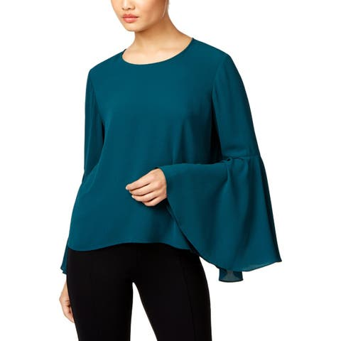 Vince Camuto Womens Blouse Work Wear Bell Sleeves