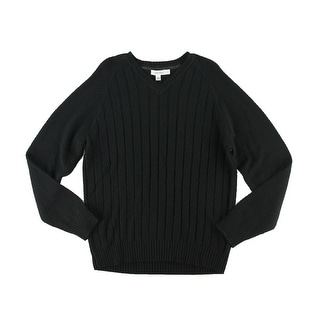 Calvin Klein Mens Cable Knit Raglan Sleeves Pullover Sweater - S