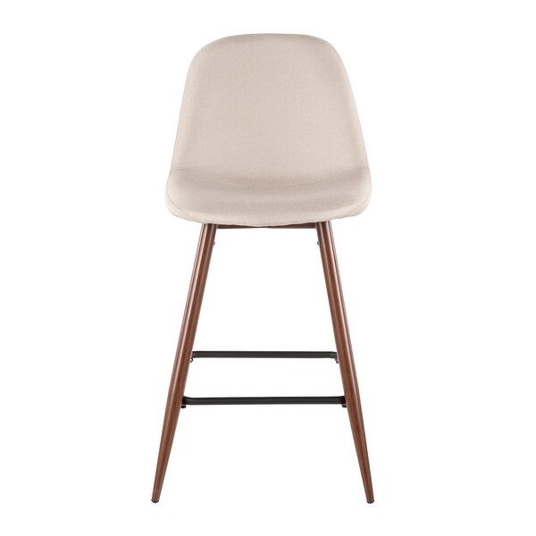 Pebble Mid-Century Modern Upholstered Kitchen Counter Stool (Set of 2). Opens flyout.