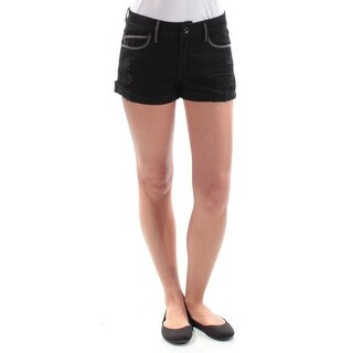 Womens Black Casual Cuffed Short Size 3