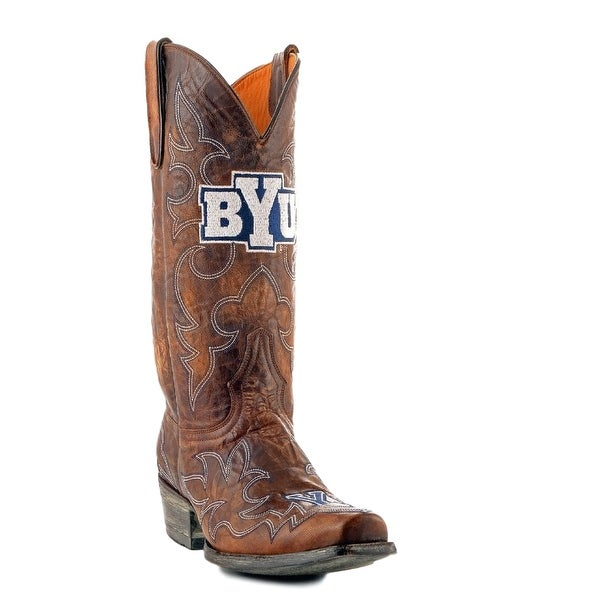 Gameday Boots Mens College Team Brigham Young Cougars Brass