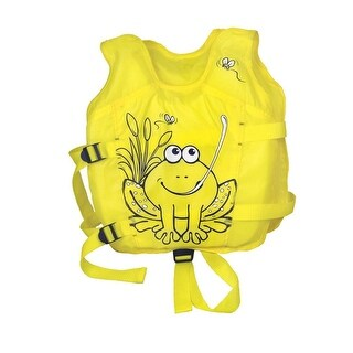 Yellow Intermediate Hungry Frog Swim Vest - Ages 3-6